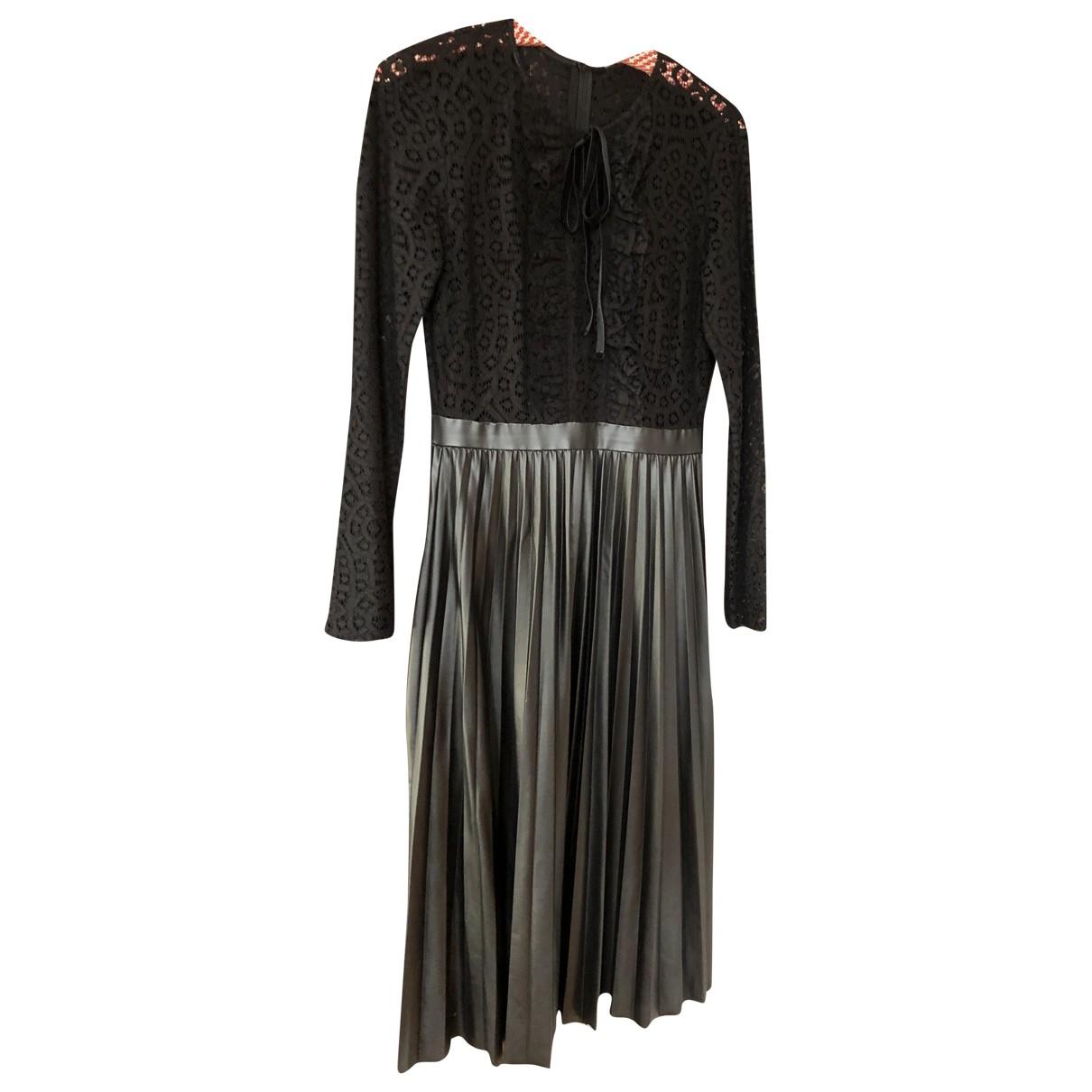 Zara \N Kleid in  Schwarz Lackleder