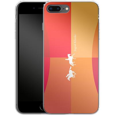 Apple iPhone 7 Plus Silikon Handyhuelle - Geometric Silhouette von Ingrid Klimke