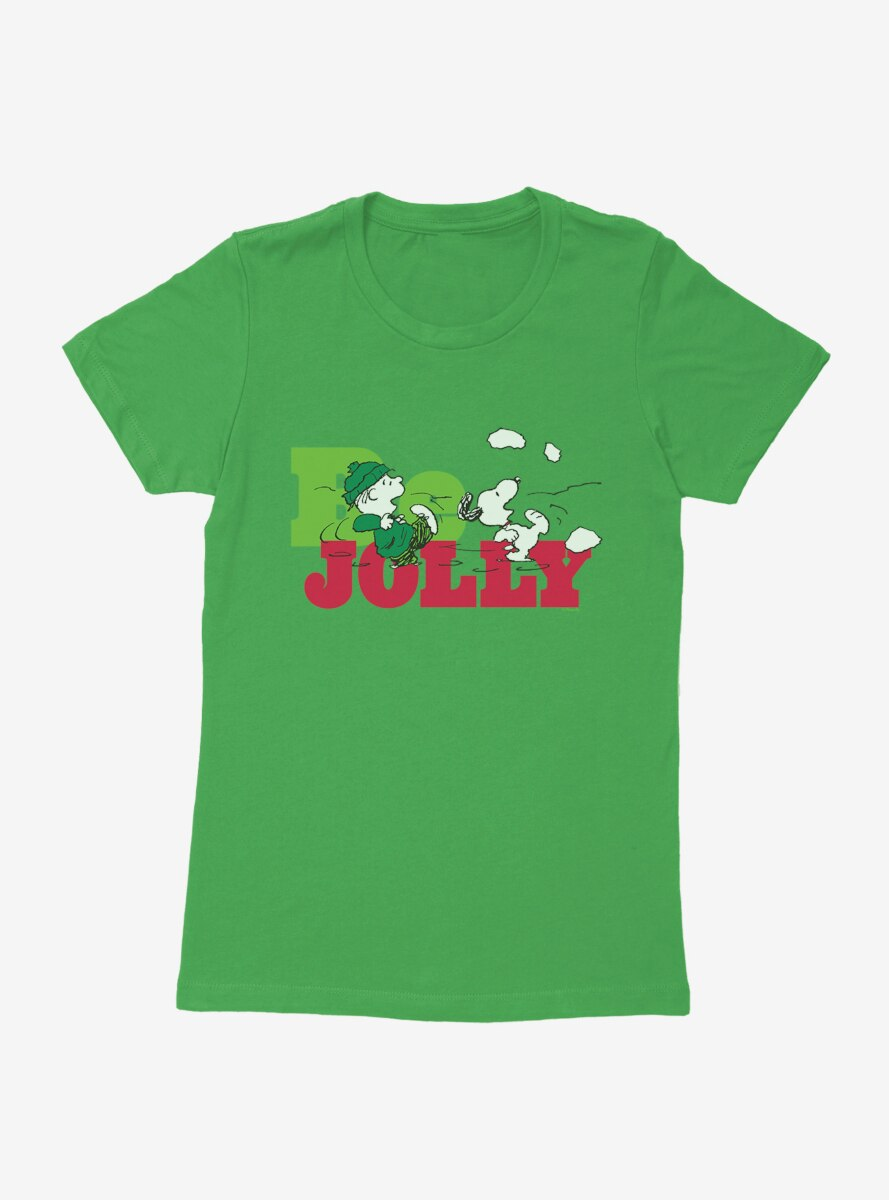 Peanuts Christmas Snoopy Be Jolly Womens T-Shirt