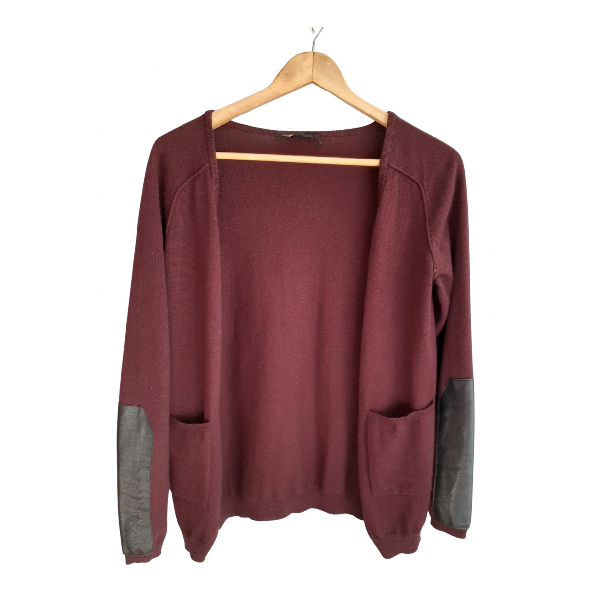 Maje N Burgundy Wool jacket for Women 38 FR