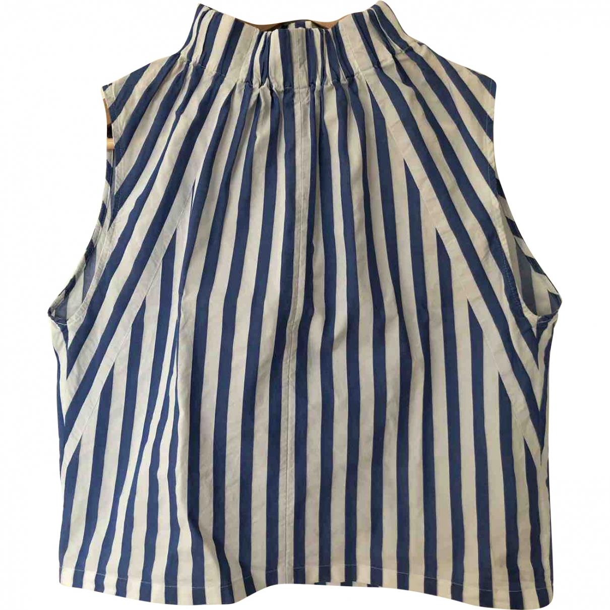 Drykorn - Top   pour femme en coton - bleu