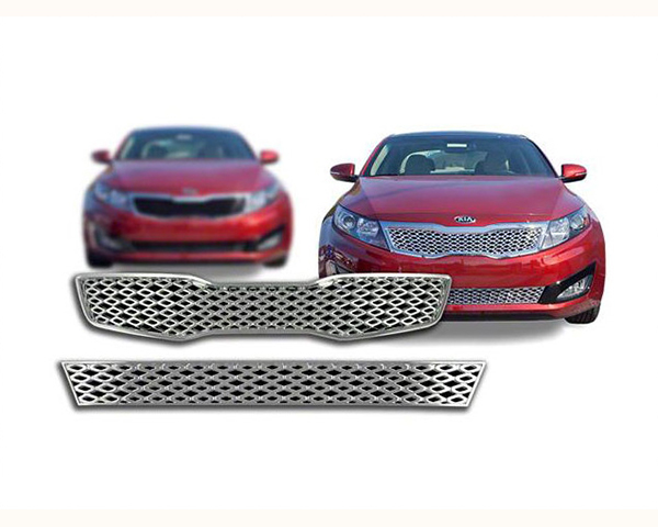 Quality Automotive Accessories 3-Piece Mesh Grille Overlay Kia Sportage 2012