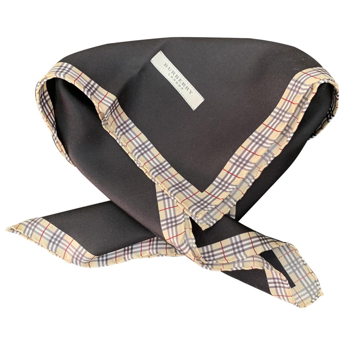 Burberry \N Black Silk scarf for Women \N