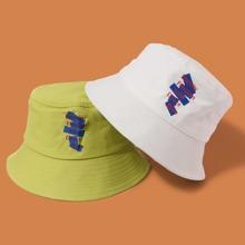 2 piezas sombrero cubo de hombres con letra