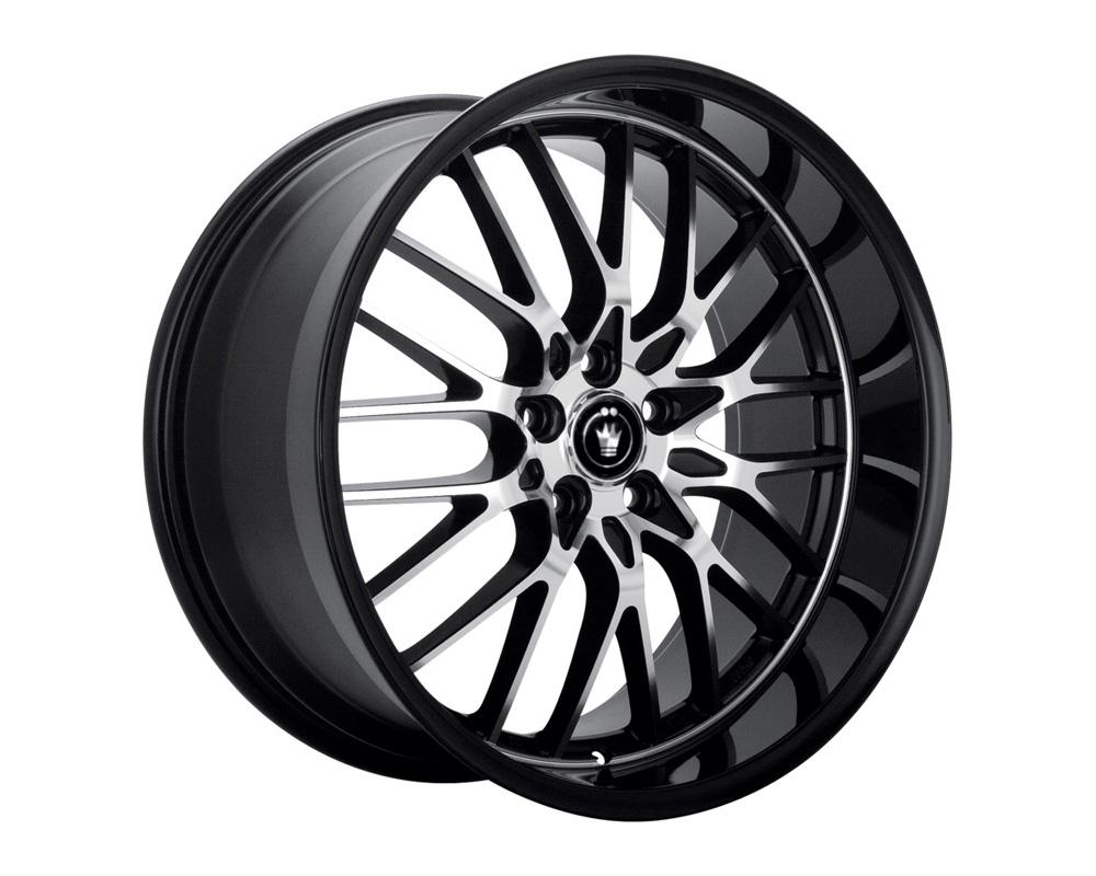 Konig Lightning Gloss Black w/Machined Lip Wheel 16x7 5x100/114.3 40