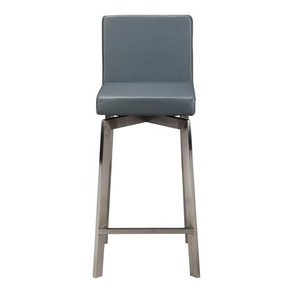 Giro Collection EH-1038-25 Bar Stool with Stainless Steel Legs in Gray