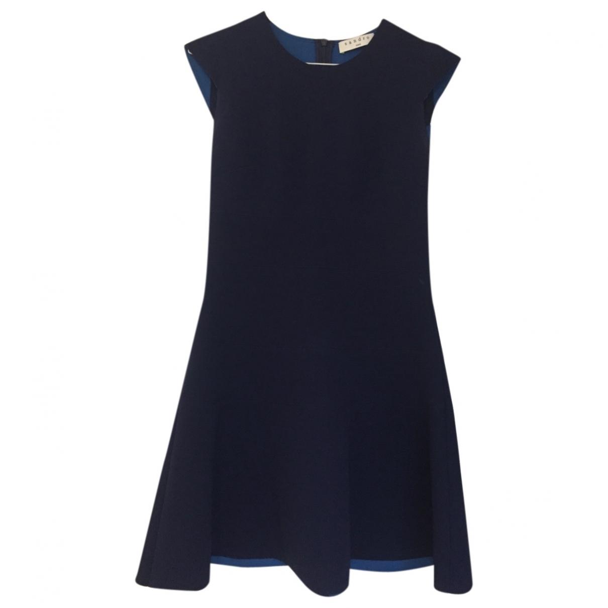 Sandro \N Navy dress for Women 1 0-5