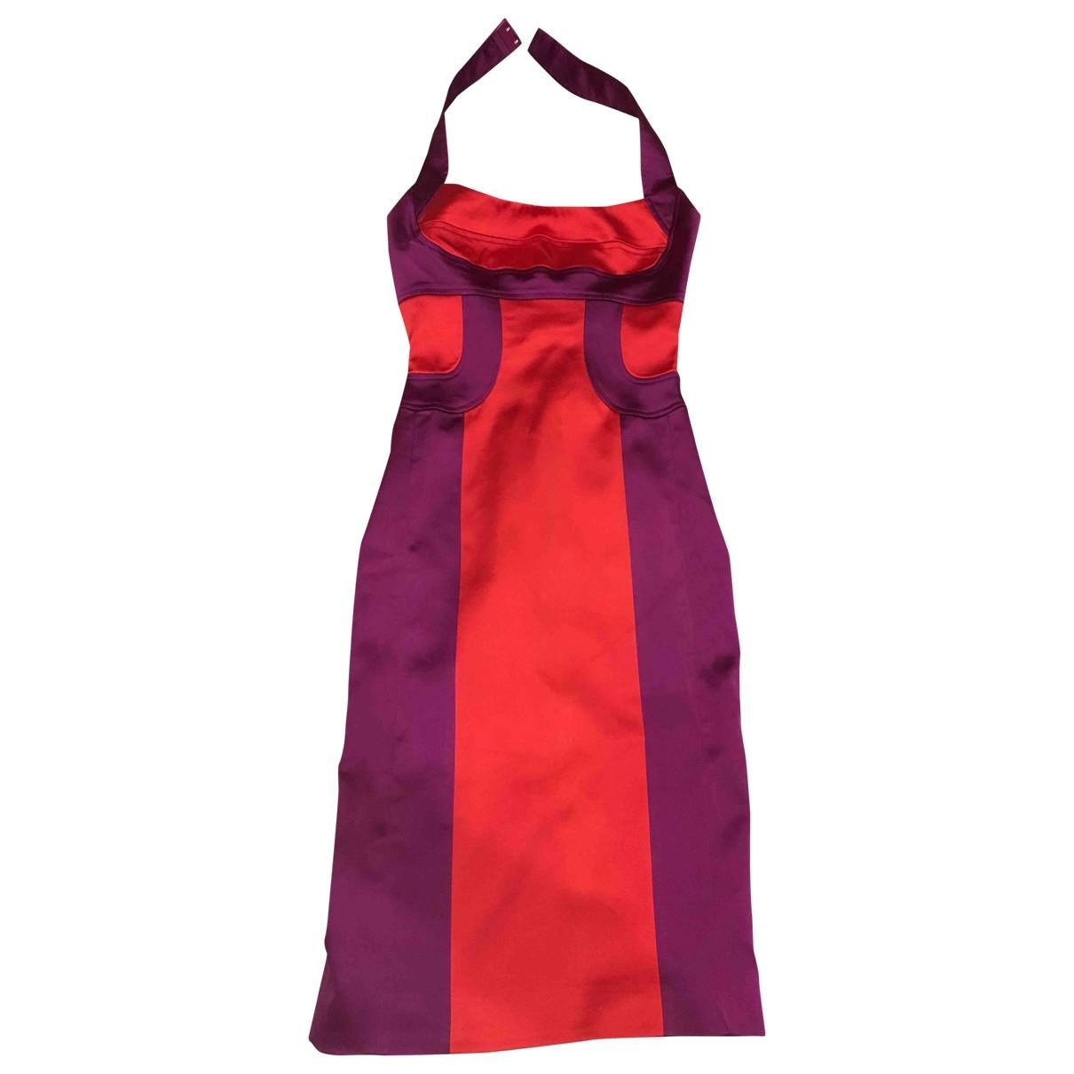 Karen Millen - Robe   pour femme en soie - rouge