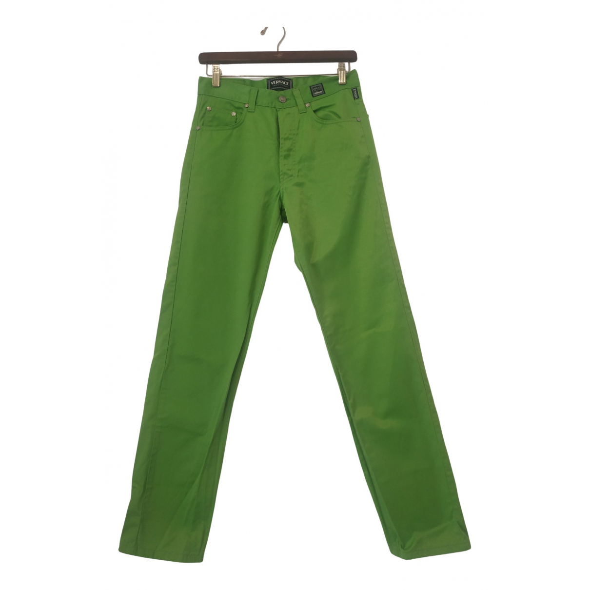 Versace Jeans \N Green Cotton Trousers for Women M International