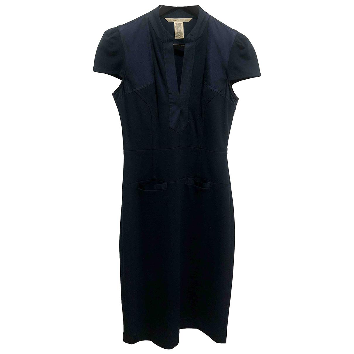 Diane Von Furstenberg \N Kleid in  Blau Wolle