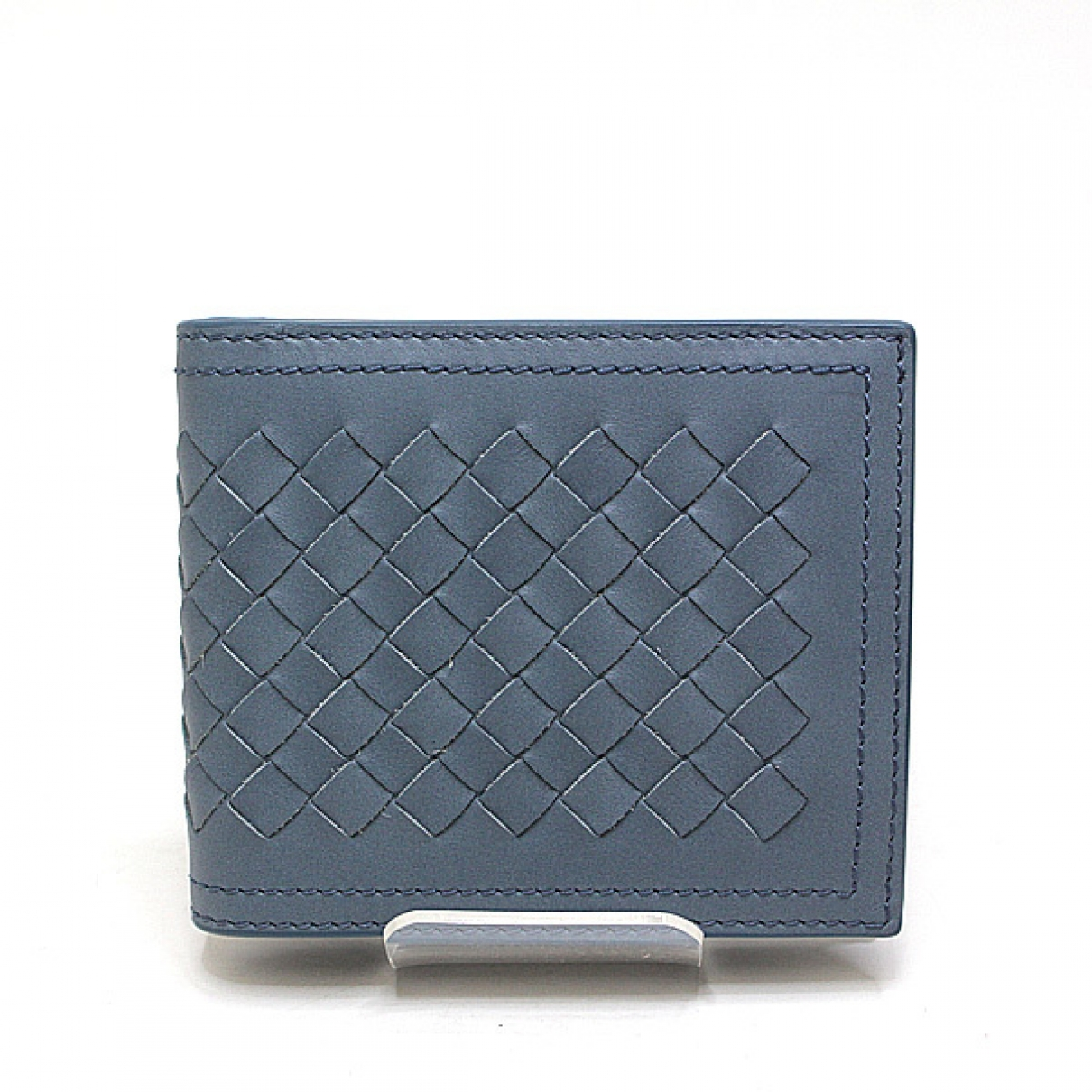 Bottega Veneta Intrecciato Blue Leather wallet for Women \N