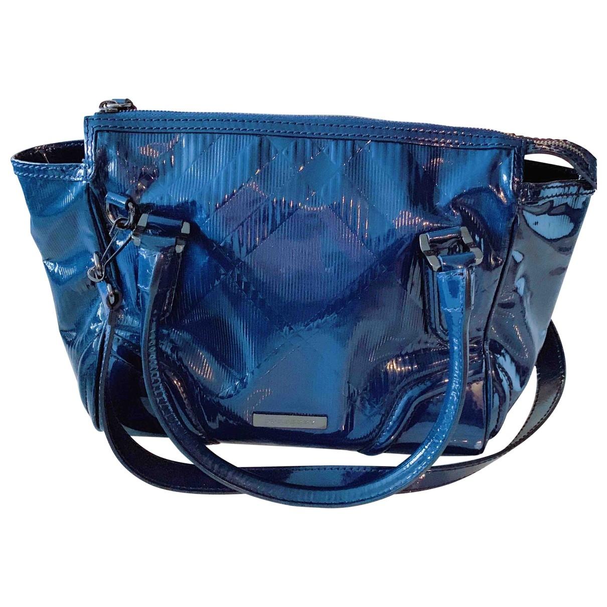Burberry \N Blue Patent leather handbag for Women \N