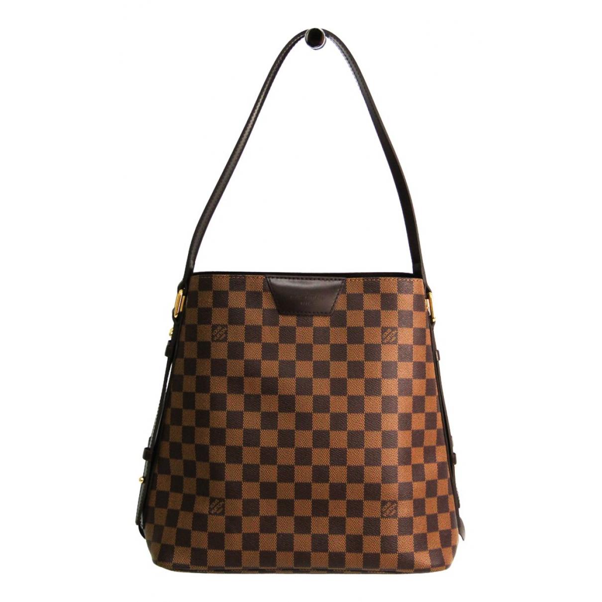 Louis Vuitton - Sac a main Rivington pour femme en toile - marron