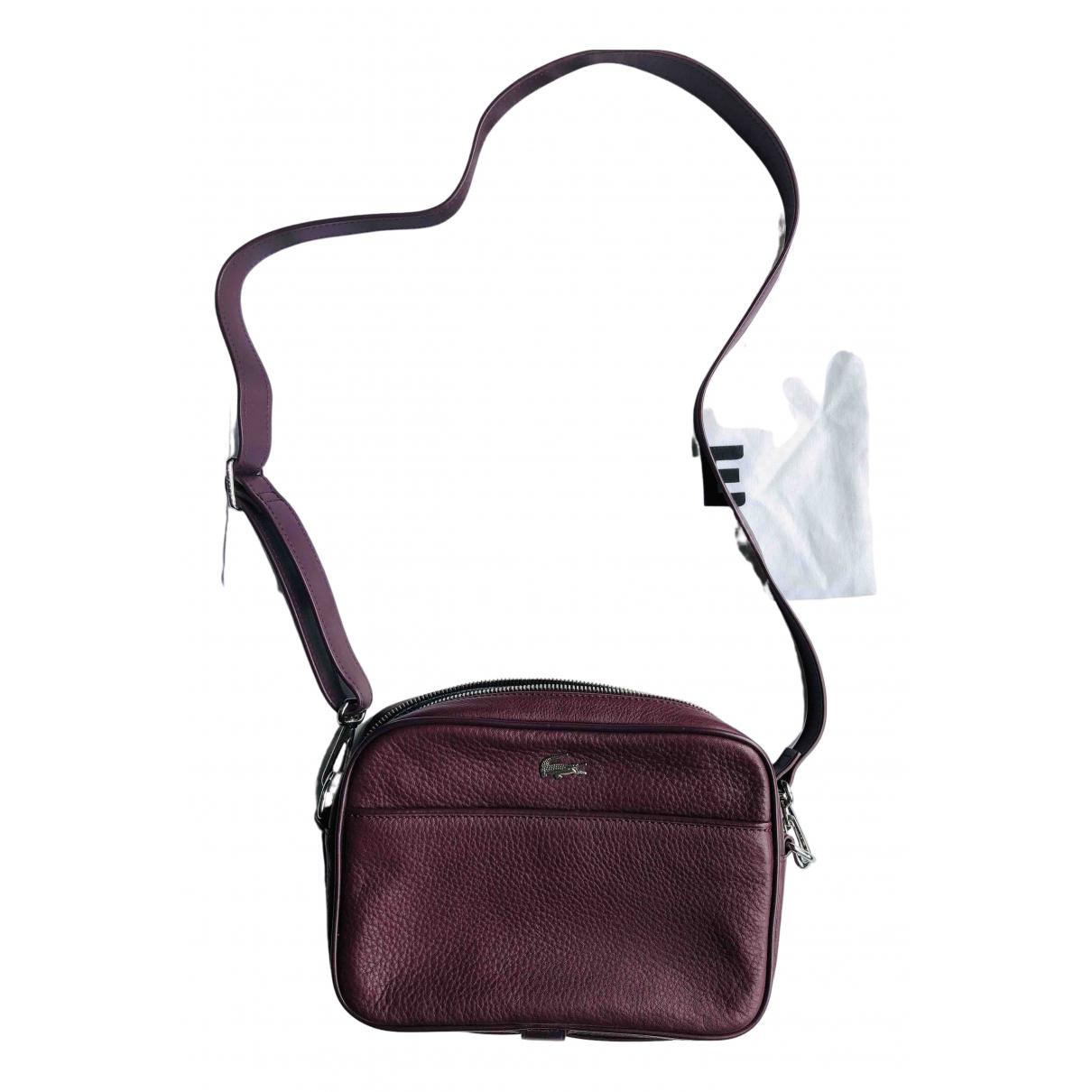 Lacoste \N Handtasche in  Lila Leder