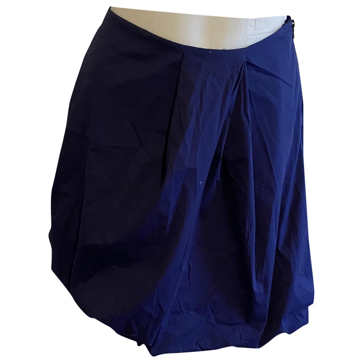 Prada \N Navy Cotton skirt for Women 38 IT