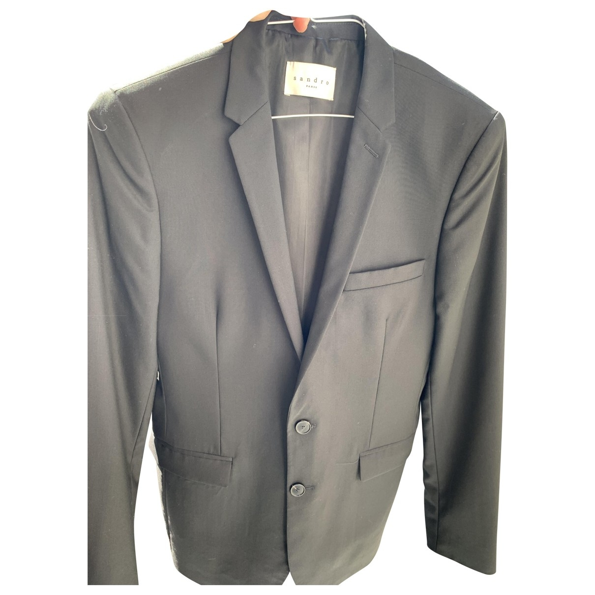 Sandro \N Black Wool jacket  for Men 48 FR