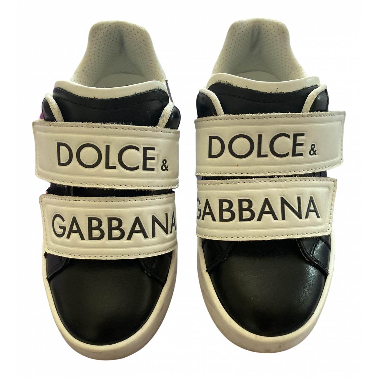 Dolce & Gabbana \N Black Leather Trainers for Kids 29 FR