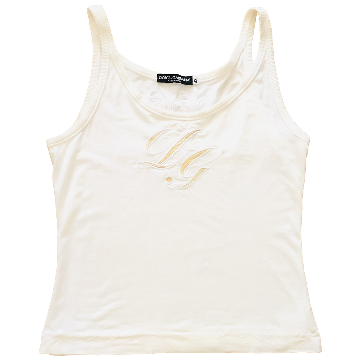 Dolce & Gabbana N White Cotton  top for Women 42 IT
