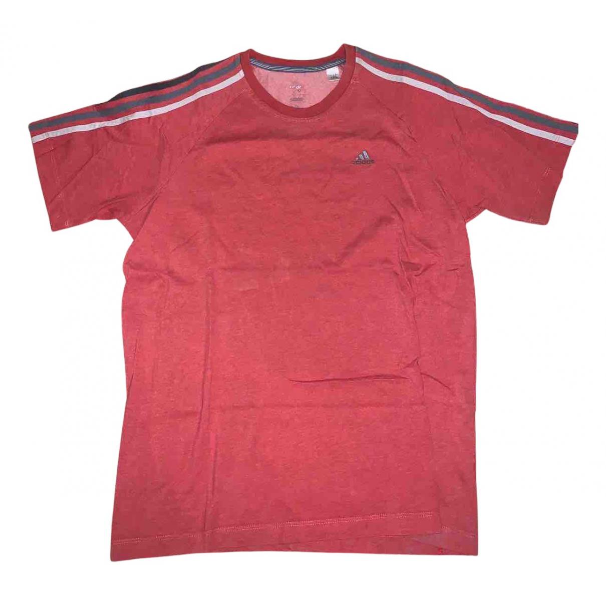 Adidas - Tee shirts   pour homme en coton - rouge