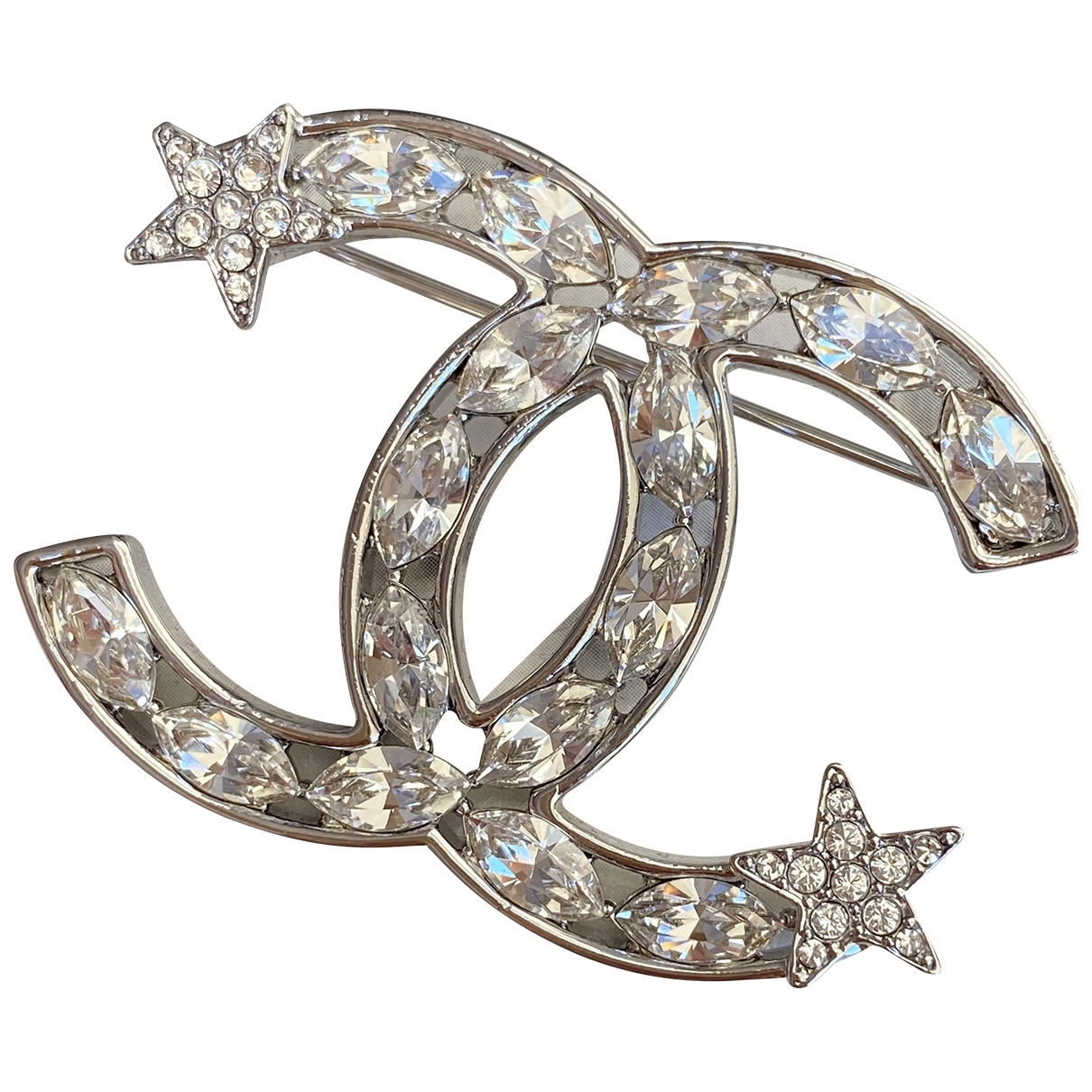 Chanel - Broche   pour femme en metal - argente