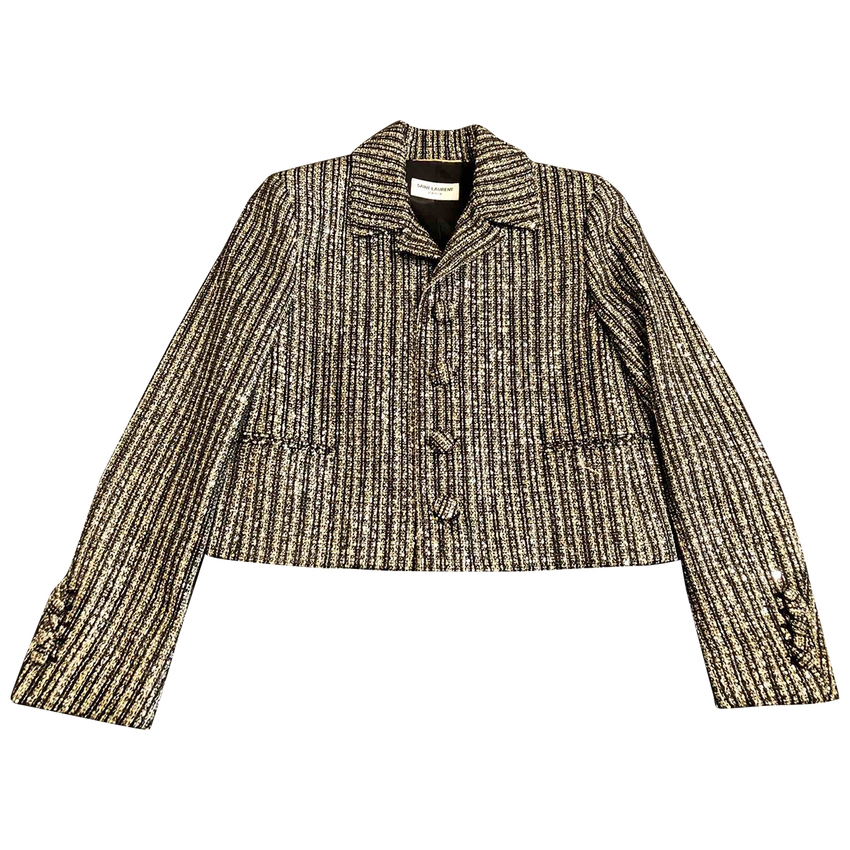 Saint Laurent \N Gold Tweed jacket for Women 36 FR