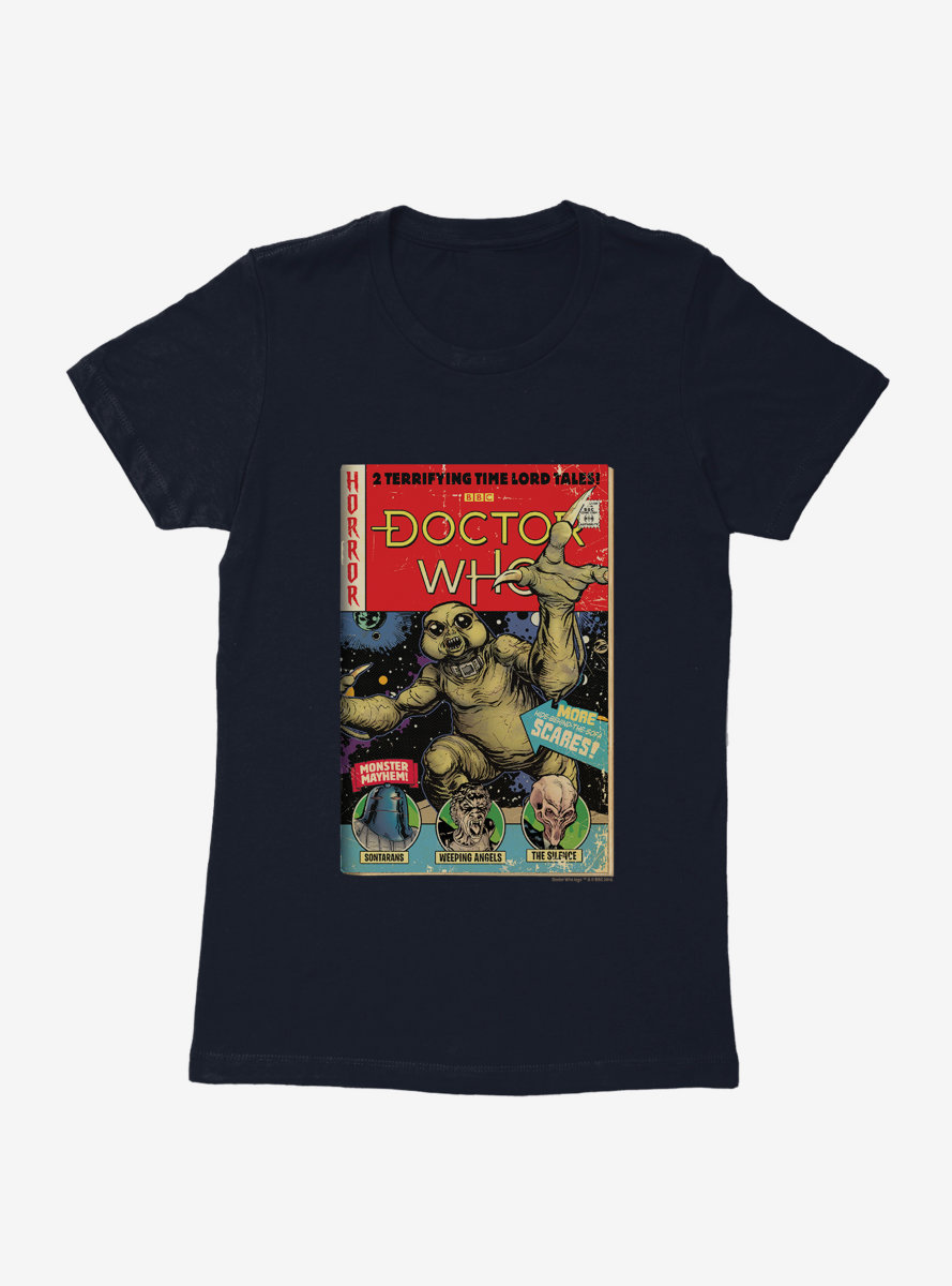 Doctor Who Monster Mayhem Comic Womens T-Shirt