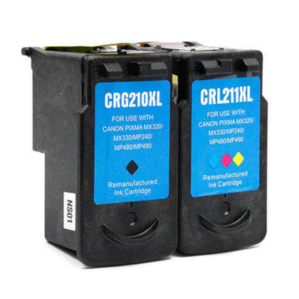 Compatible Canon PIXMA iP2702 Ink Cartridges Black & Colour Combo, High Yield