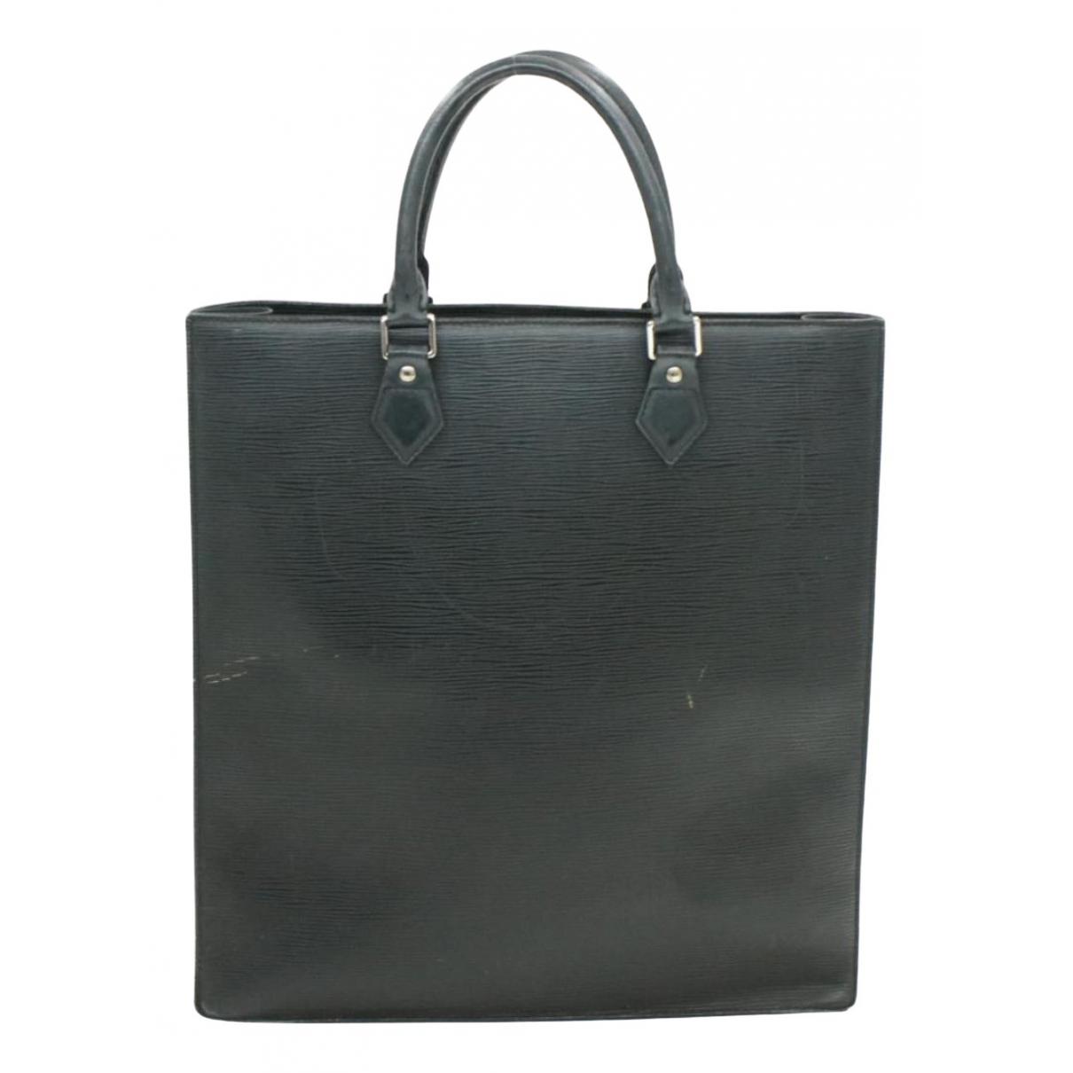 Louis Vuitton Plat Black Leather handbag for Women N