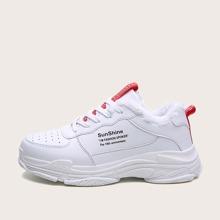Zapatillas deportivas de hombres con estampado de letra con cordon delantero