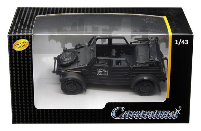 Volkswagen Kubelwagen Convertible K Type 82 Black 1/43 Diecast Model Car by Cararama