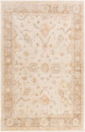 Normandy NOY-8004 4' x 6' Rectangle Traditional Rug in Ivory  Taupe  Butter  Blush  Light