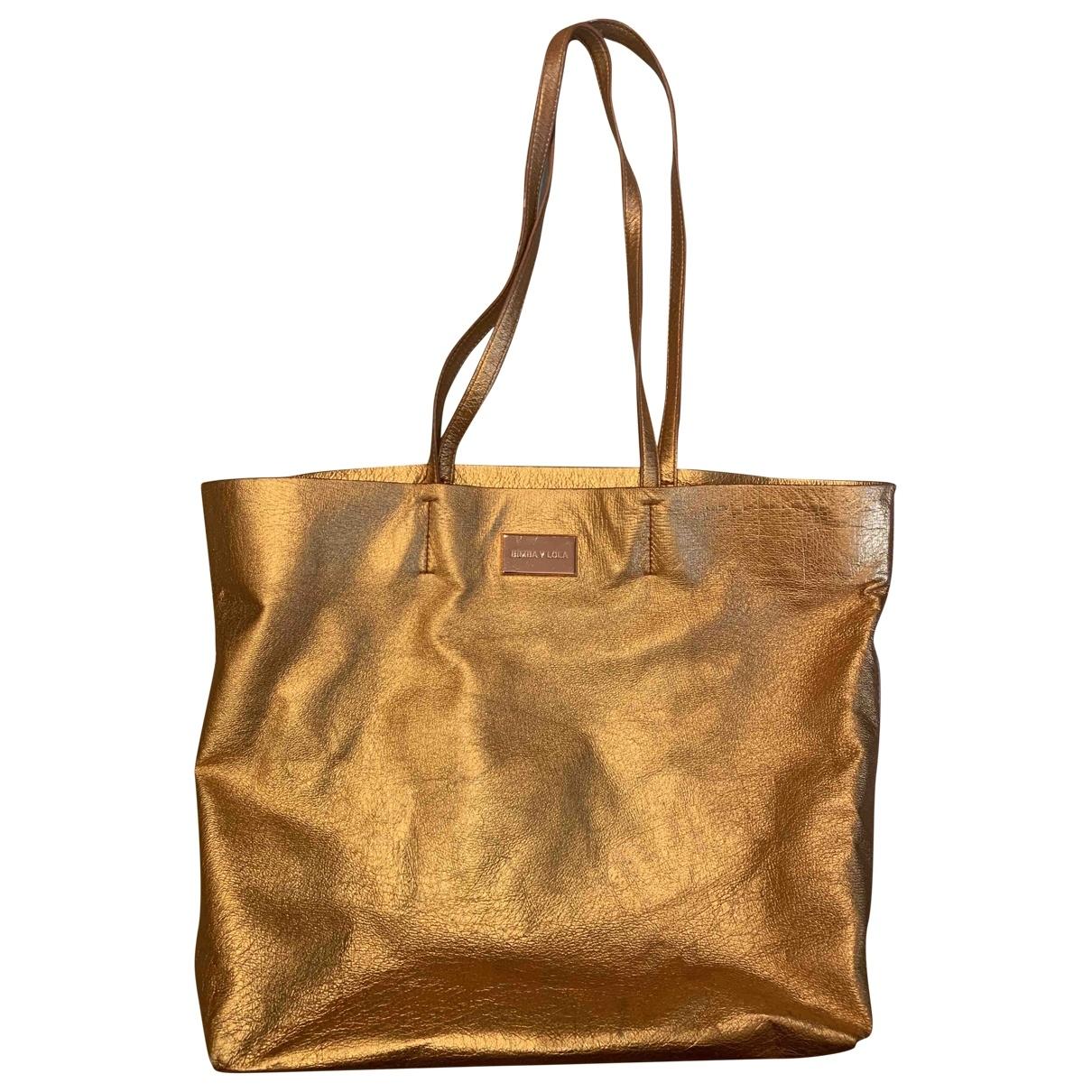 Bimba Y Lola - Sac de voyage   pour femme en cuir - metallise