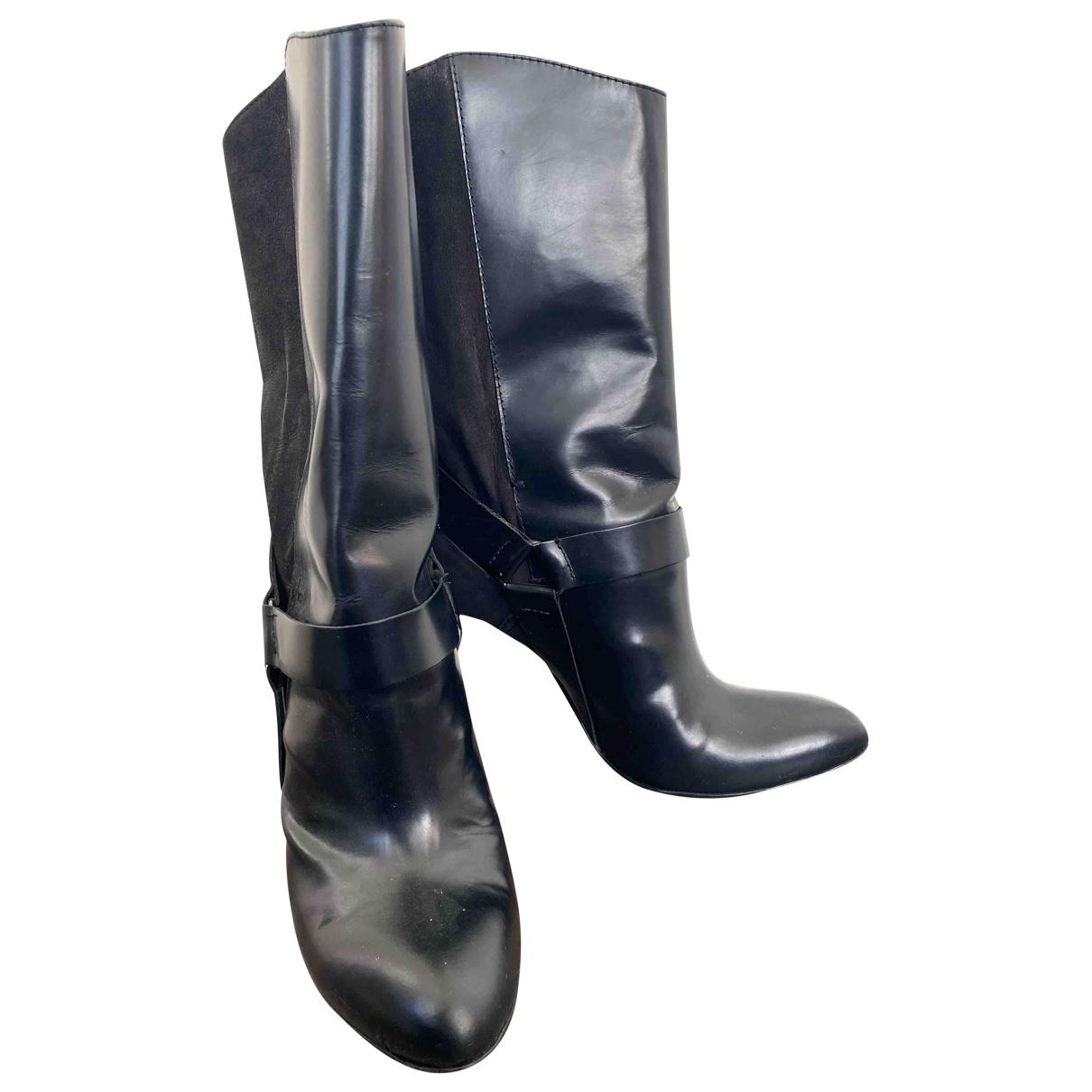 Costume National \N Black Fur Boots for Women 40 EU