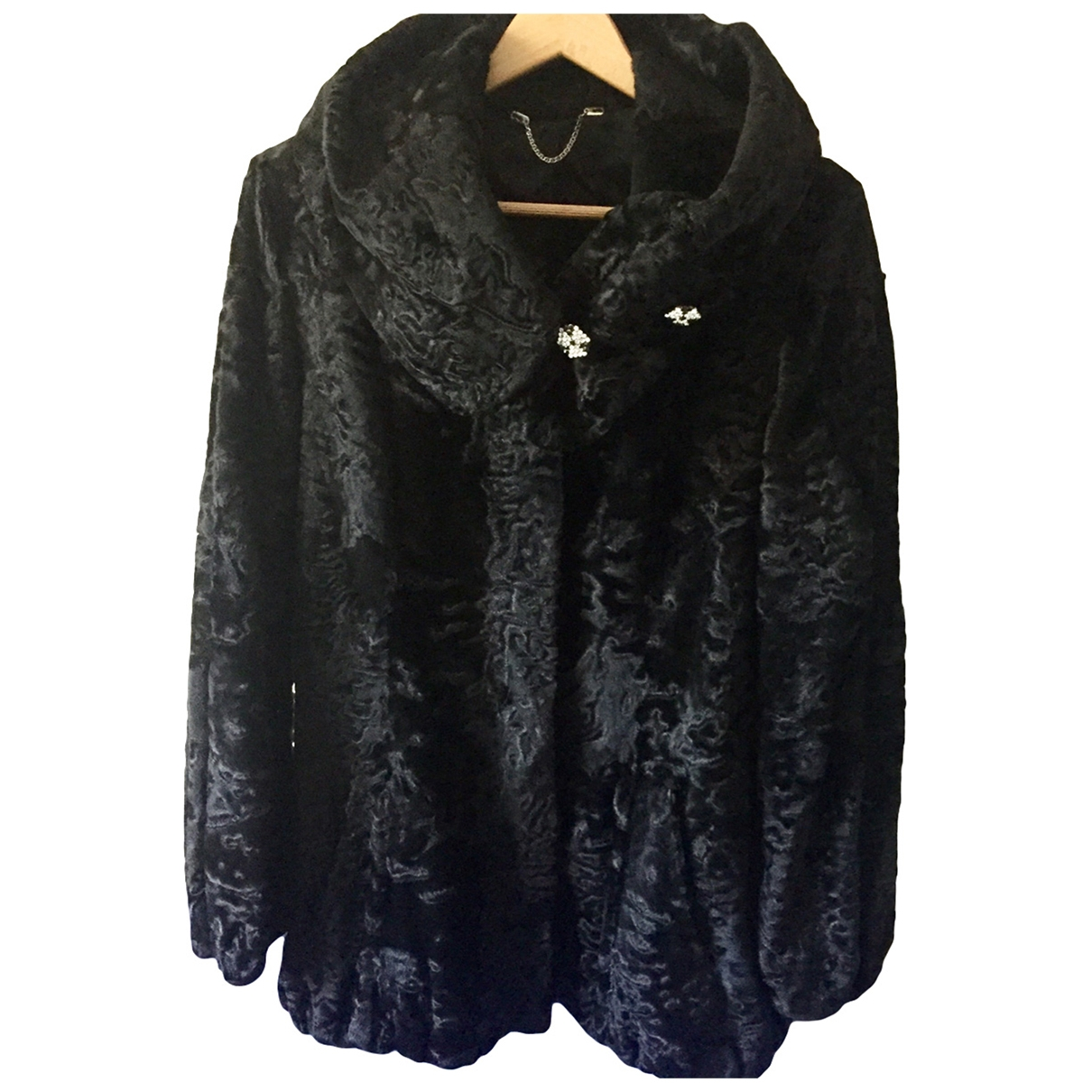 Non Signé / Unsigned \N Black Astrakhan coat for Women 42 IT