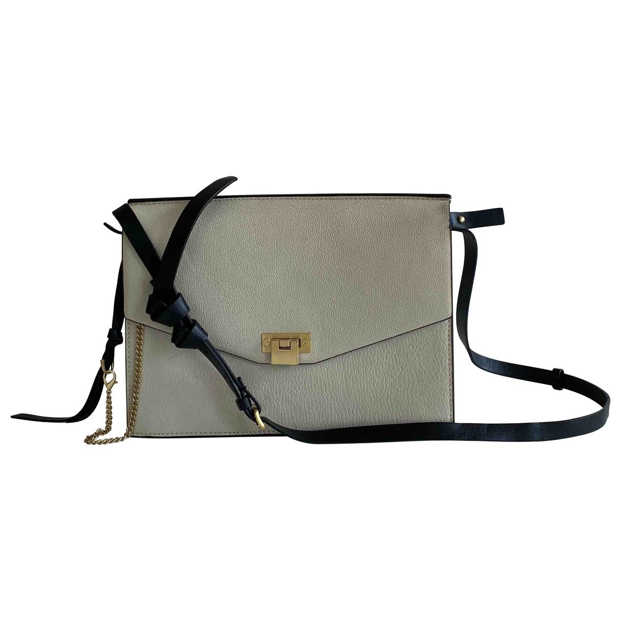 Reiss \N Handtasche in  Weiss Leder