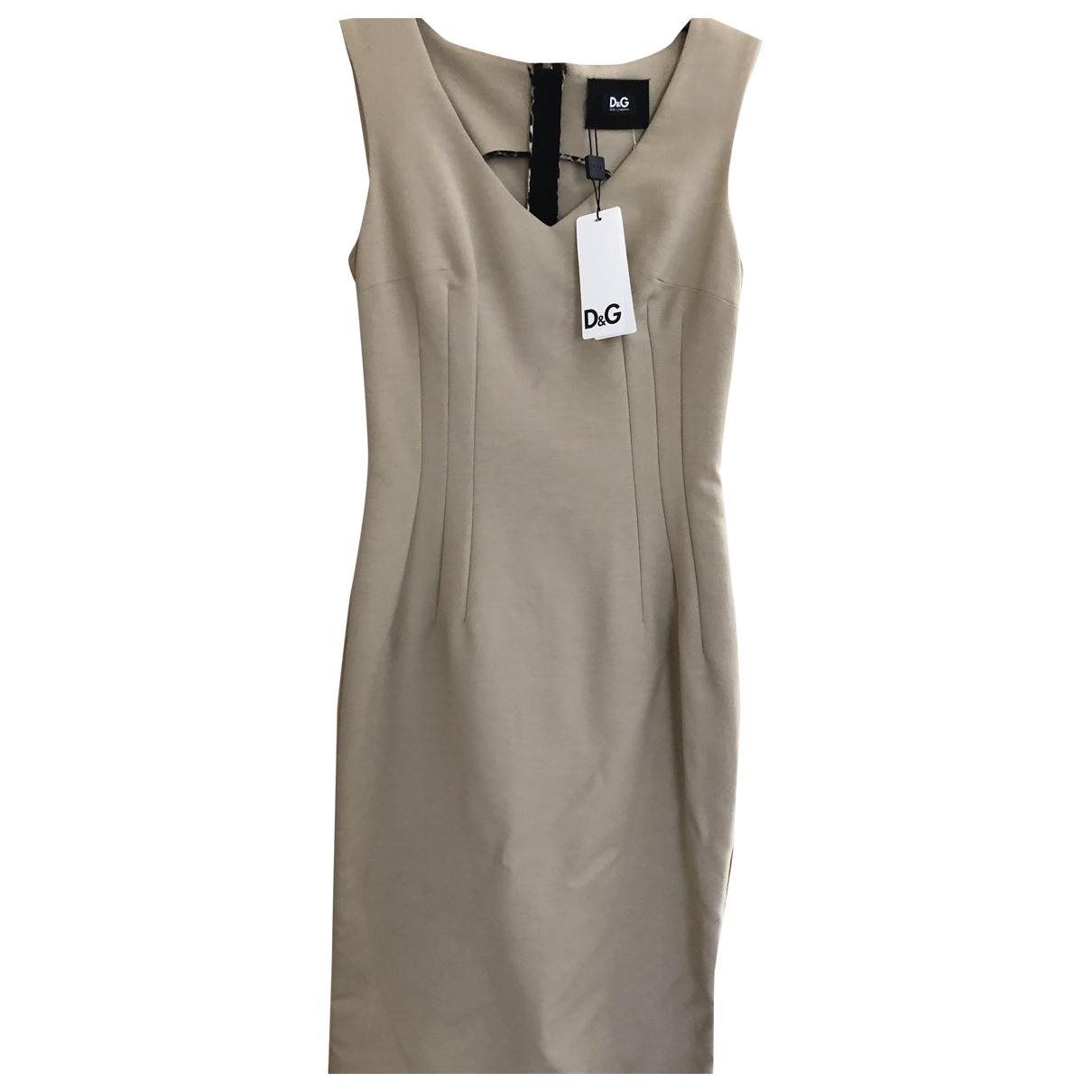 D&g \N Kleid in  Beige Baumwolle