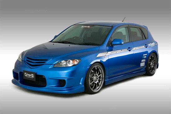 INGS N-Spec Front Grill FRP Mazda 3 JDM 10/03-5/06