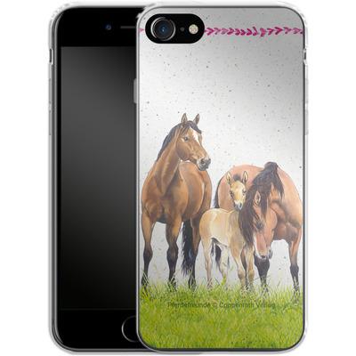 Apple iPhone 8 Silikon Handyhuelle - Pferdefreunde Familie von Pferdefreunde