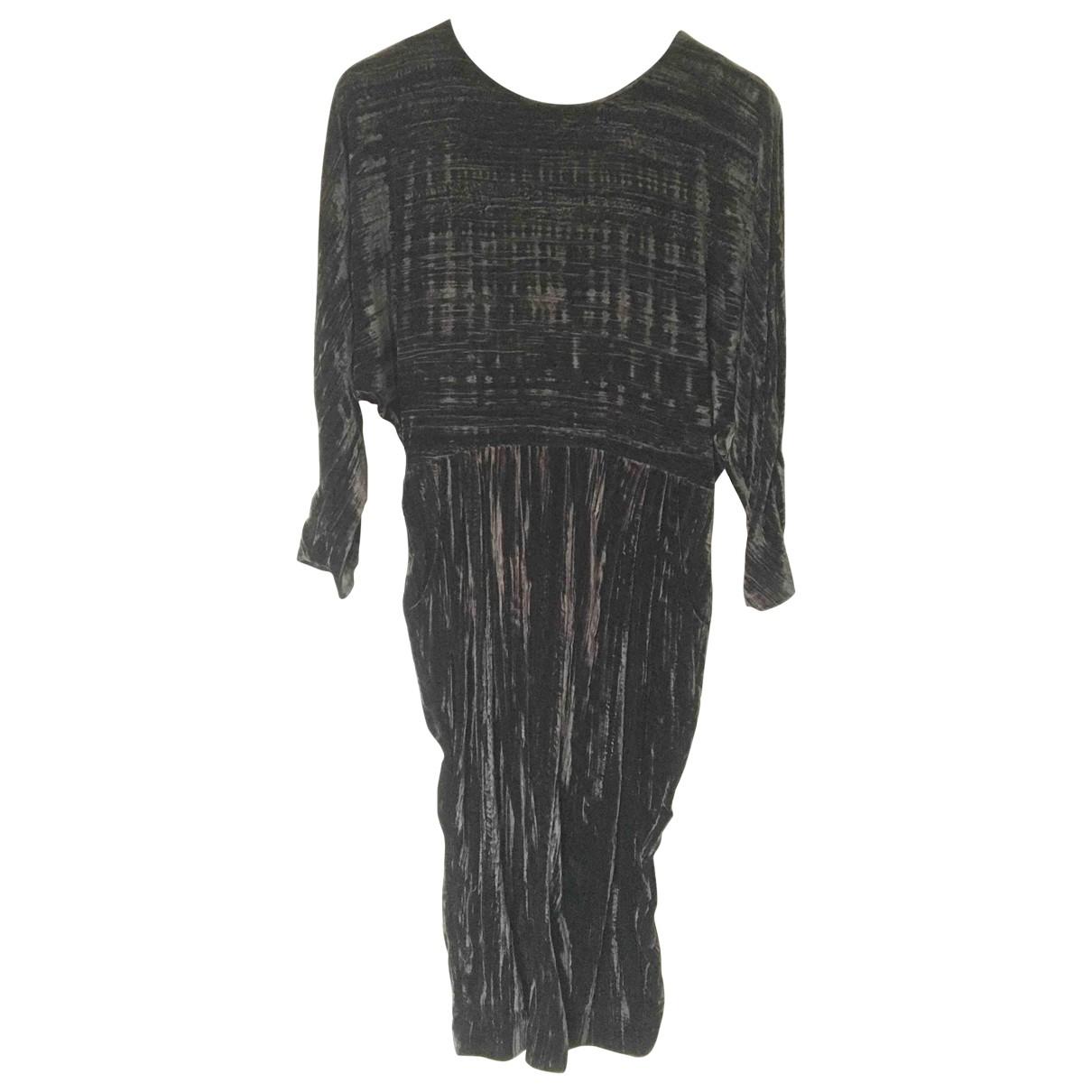& Stories \N Black Velvet dress for Women M International