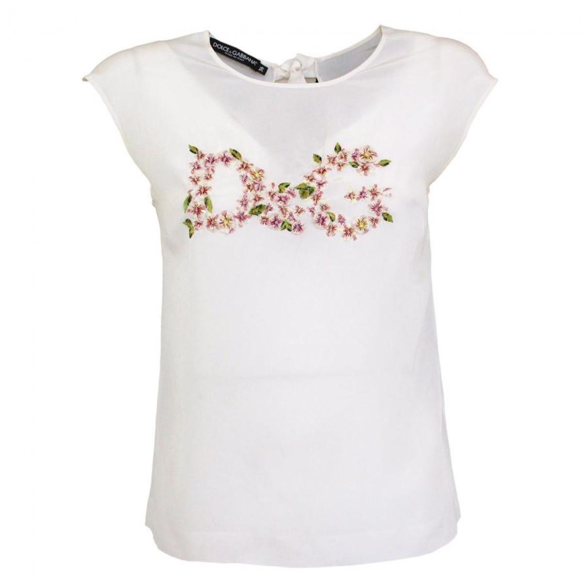 Dolce & Gabbana \N White Silk  top for Women 36 IT