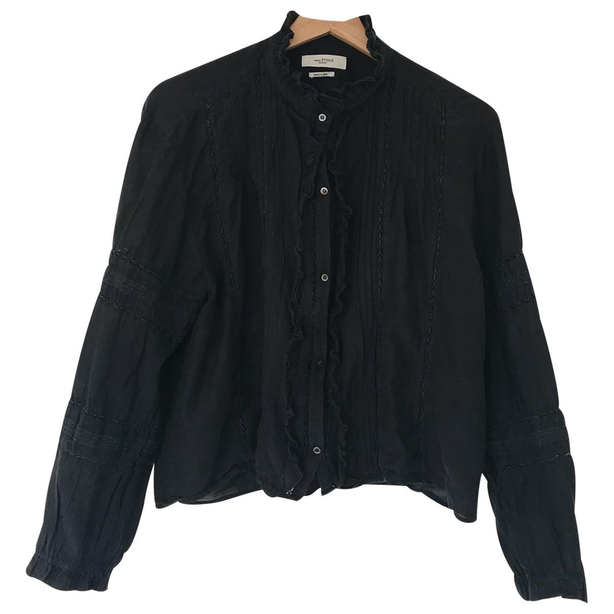 Isabel Marant Etoile \N Black Cotton  top for Women 36 FR