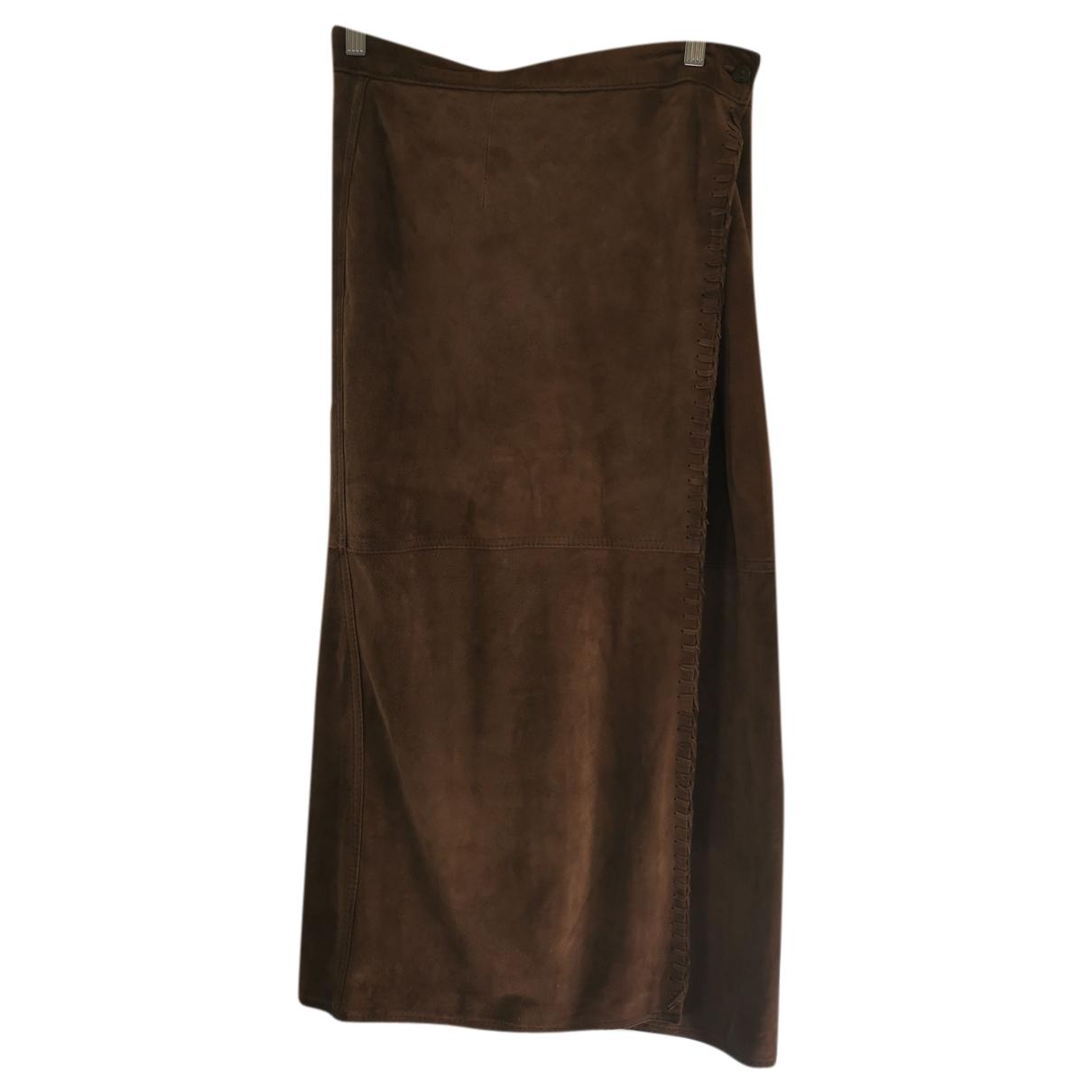 Timberland - Jupe   pour femme en suede - beige