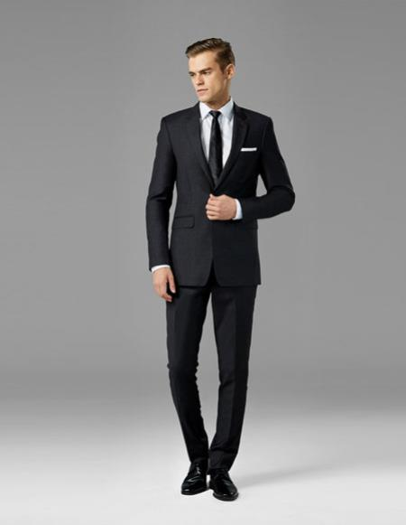 Mens Charcoal best Suit buy one get one suits free Suit