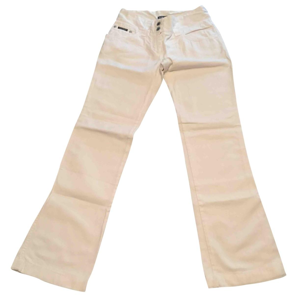 Dolce & Gabbana \N White Denim - Jeans Trousers for Women 42 IT