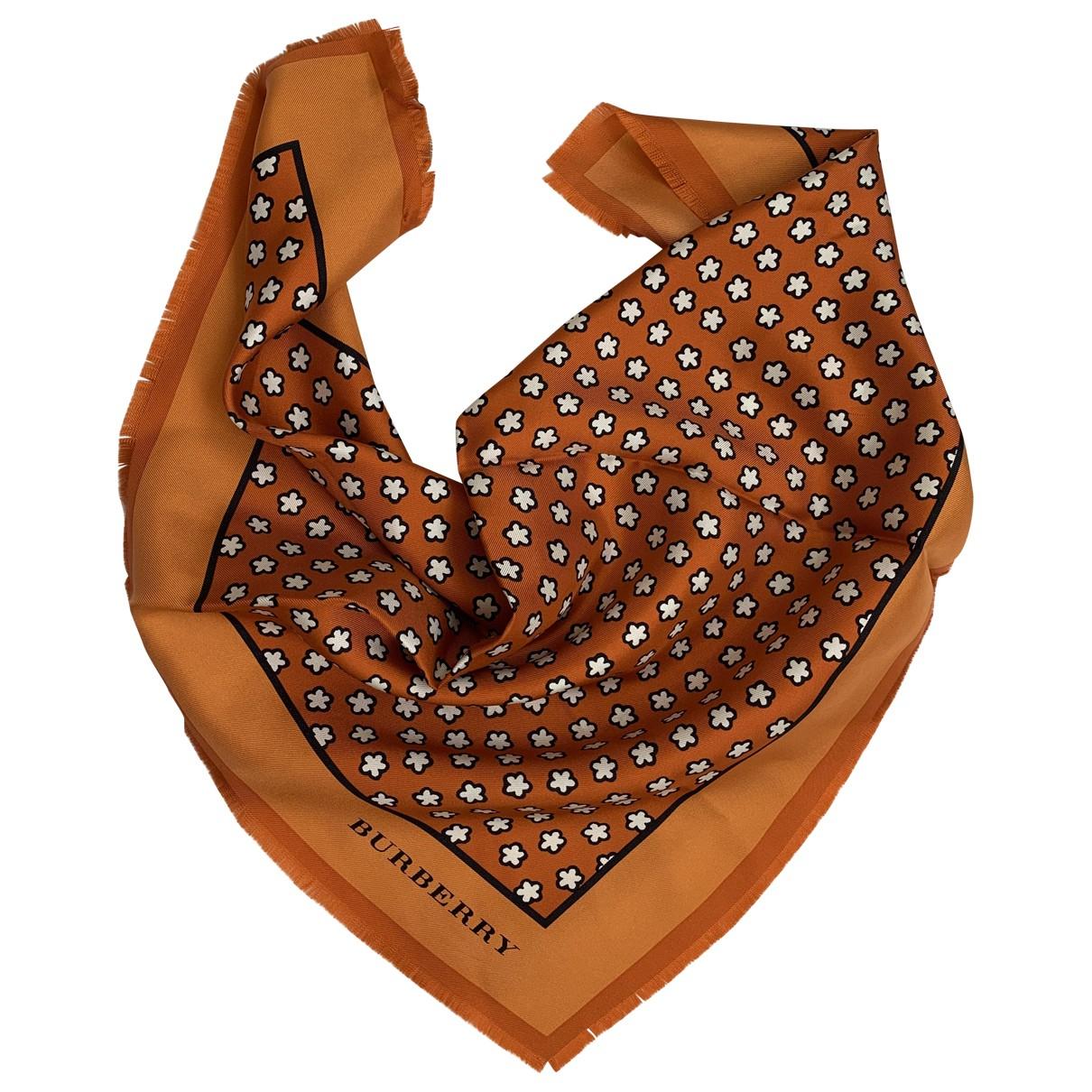 Burberry - Carre   pour femme en soie - orange