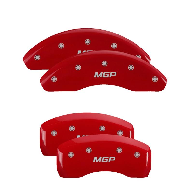 MGP Caliper Covers 28077SMGPRD Set of 4: Red finish, Silver MGP / MGP Hyundai Santa Fe 2013-2016