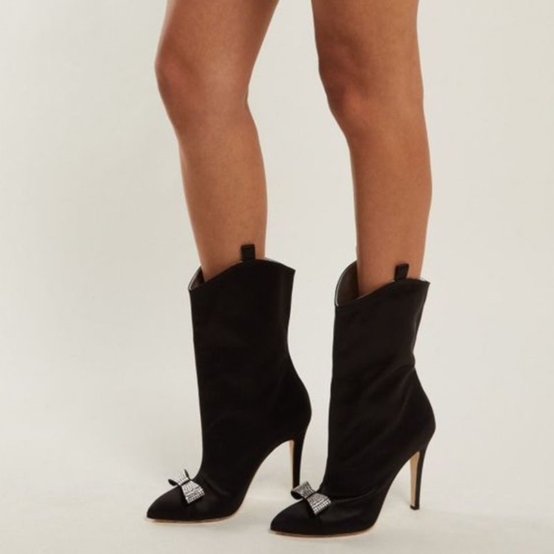 Ericdress Stiletto Heel Customized Pointed Toe Ankle Boots