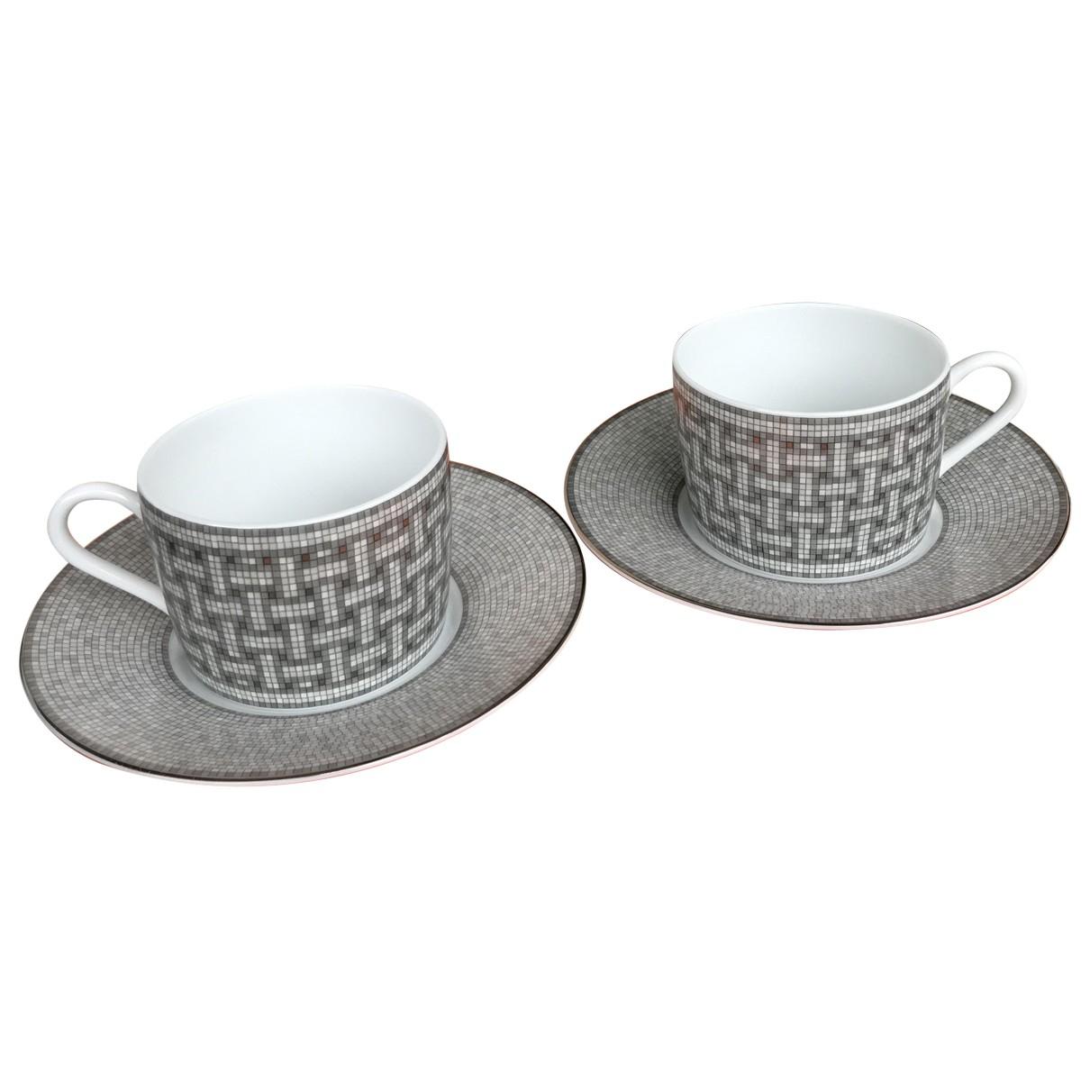 Juego de te/cafe Mosaique au 24 de Porcelana Hermes