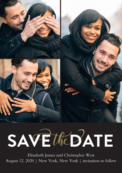 Save the Date 5x7 Cards, Premium Cardstock 120lb with Scalloped Corners, Card & Stationery -Save the Date Simple