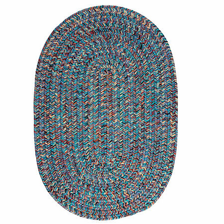 Colonial Mills Maxine Reversible Braided Oval Rug, One Size , Blue